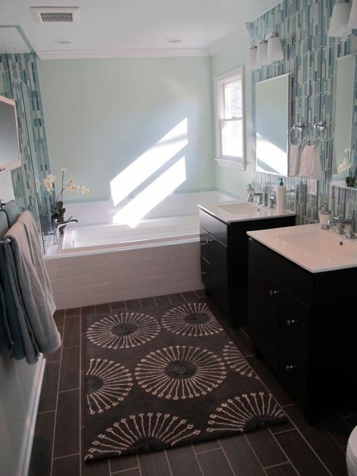 35 dark brown bathroom floor tile