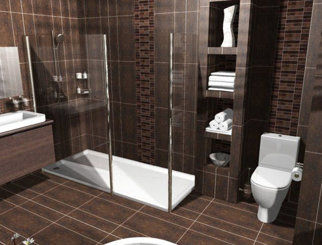 Interior Dark Brown Bathroom 35 dark brown bathroom floor tile ideas and pictures 16 17 18 19