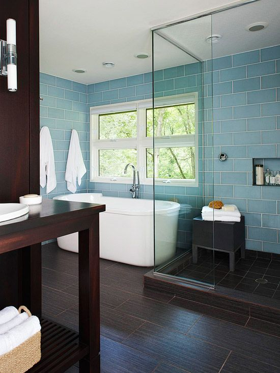 35 dark brown bathroom floor tile ideas and pictures On brown and blue bathroom tiles