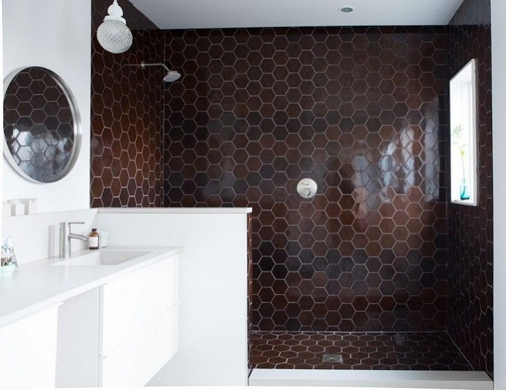 35 Dark Brown Bathroom Floor Tile Ideas And Pictures 2019