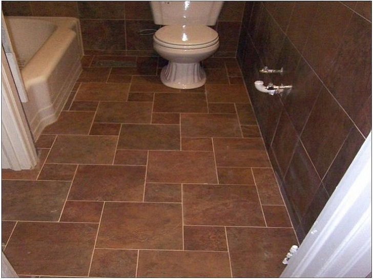 Fliesen Bad Braun: 35 Dark Brown Bathroom Floor Tile Ideas And Pictures