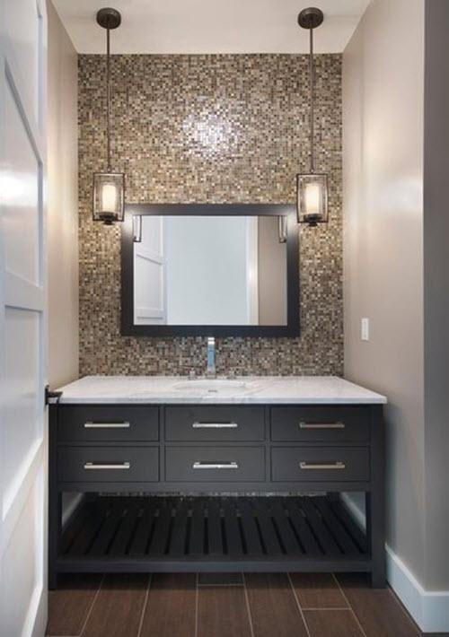 35 Dark Brown Bathroom Floor Tile Ideas And Pictures 2019
