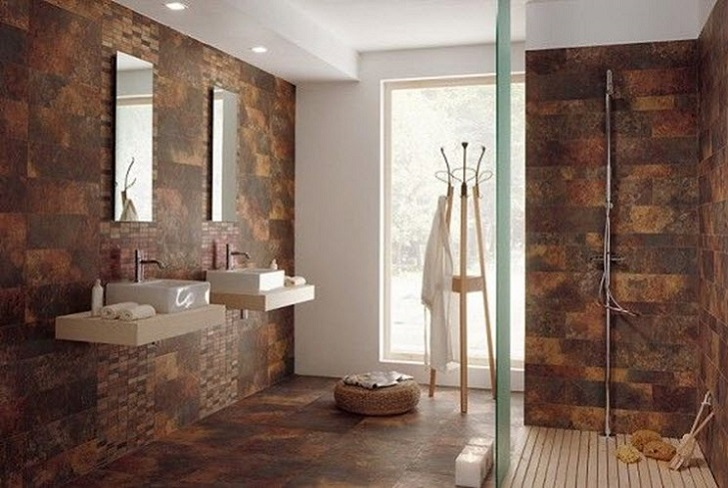 dark tiles in bathroom 35 brown bathroom floor tile ideas and pictures 18055