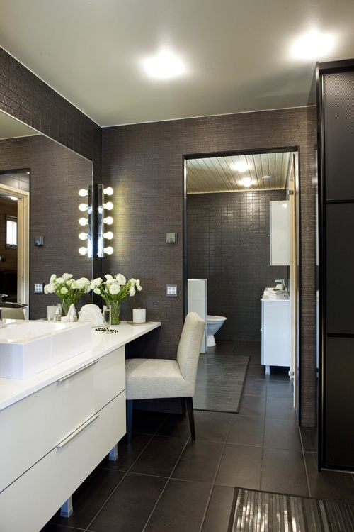 dark grey and white bathroom 35 brown bathroom floor tile ideas and pictures 23055