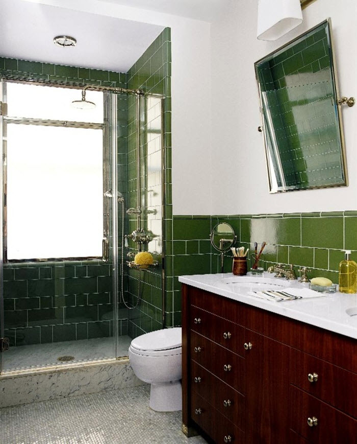 Dark Green Bathroom Ideas 40 Dark Green Bathroom Tile
