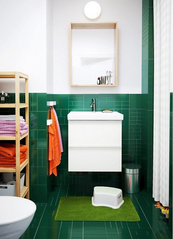 Ideas of using dark green tile in your bathroom enjoy and get inspired - 40 Dark Green Bathroom Tile Ideas And Pictures