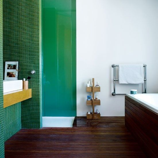 Dark Wood Tile Bathroom: 40 Dark Green Bathroom Tile Ideas And Pictures