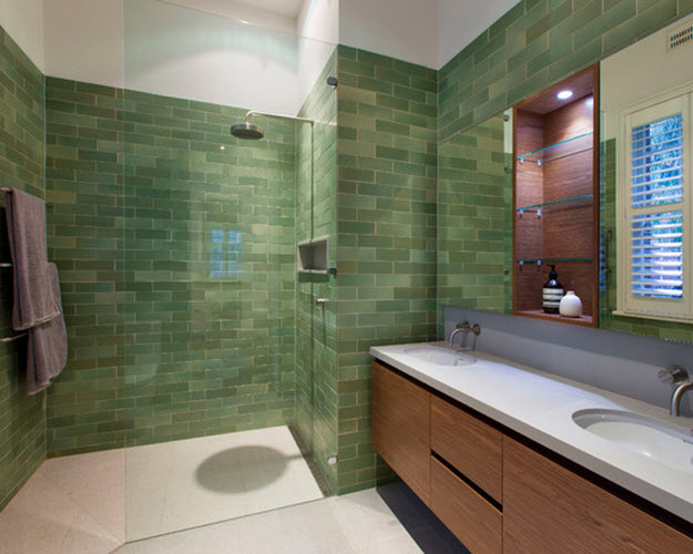 green tile bathroom ideas 40 green bathroom tile ideas and pictures 18582