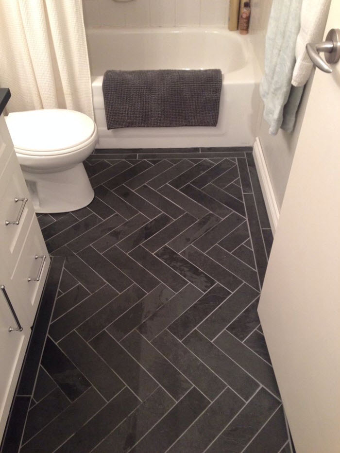 Dark Floor Tile 39 dark grey bathroom floor tiles ideas and pictures