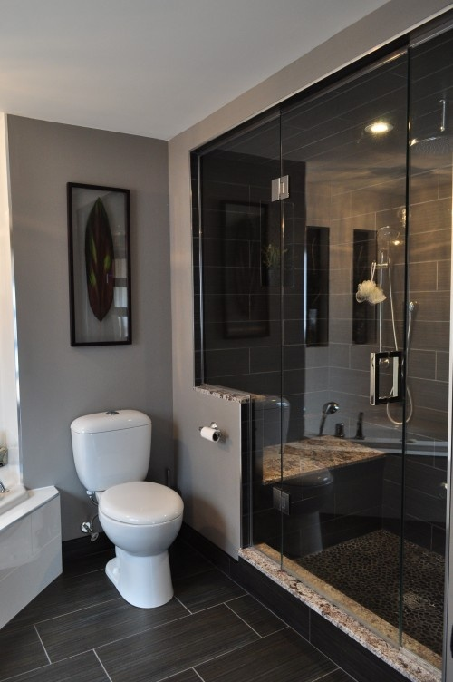 39 dark grey bathroom floor tiles ideas and pictures Bilder