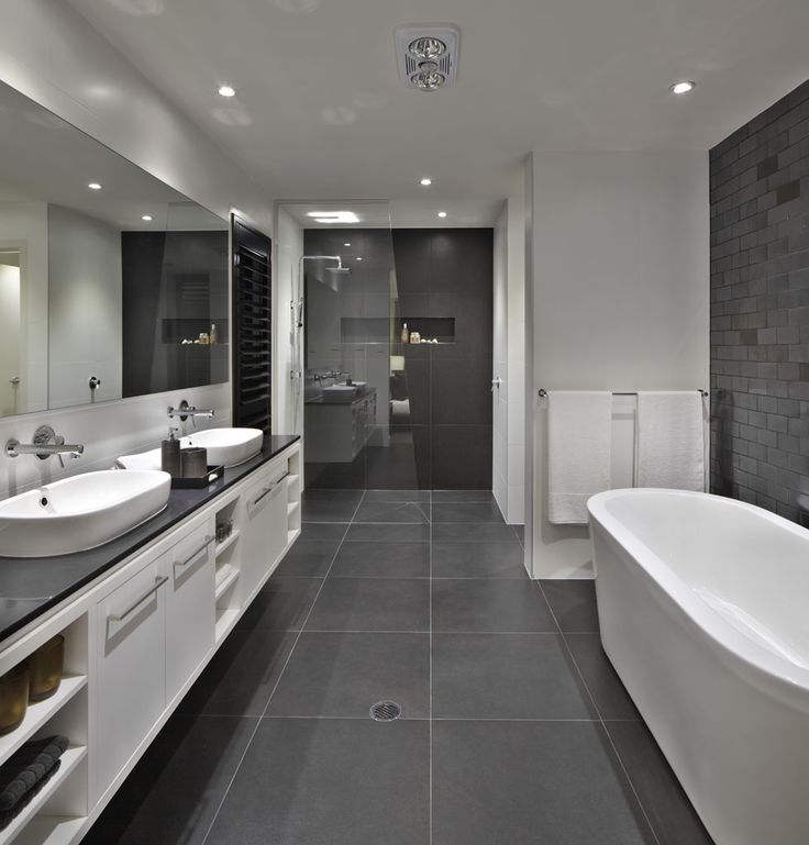 39 dark grey bathroom floor tiles ideas and pictures for Bathroom grey tiles ideas