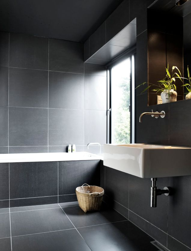 39 Dark Grey Bathroom Floor Tiles Ideas And Pictures 2019