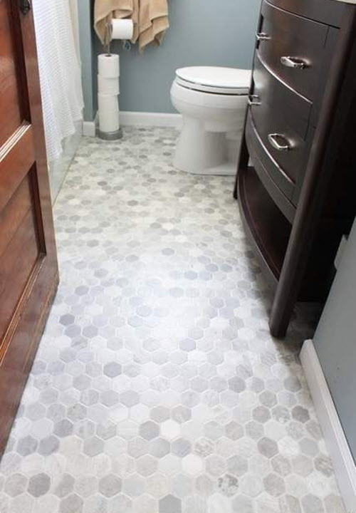38 gray bathroom floor tile ideas and pictures for Grey wood floor bathroom