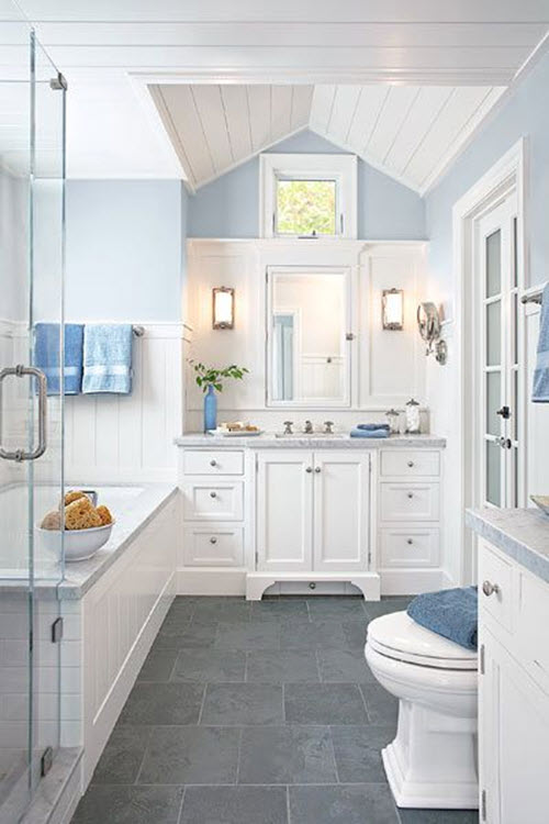 38 gray bathroom floor tile ideas and pictures 23688