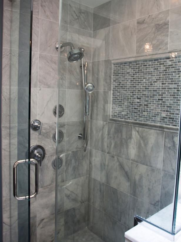 40 gray bathroom tile ideas and pictures for Bathroom grey tiles ideas