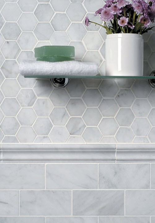 Gray Hexagon Bathroom Tile Ideas And Pictures