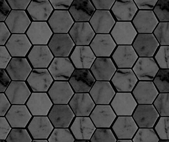 How To Create A Greyscale Bathroom: 40 Gray Hexagon Bathroom Tile Ideas And Pictures
