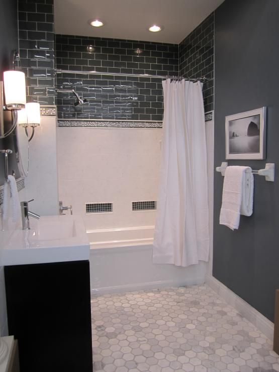 40 gray hexagon bathroom tile ideas and pictures What color to paint bathroom with gray tile