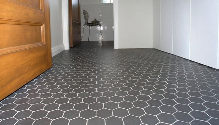 Gray Hexagon Bathroom Tile 32 33 34 35 36