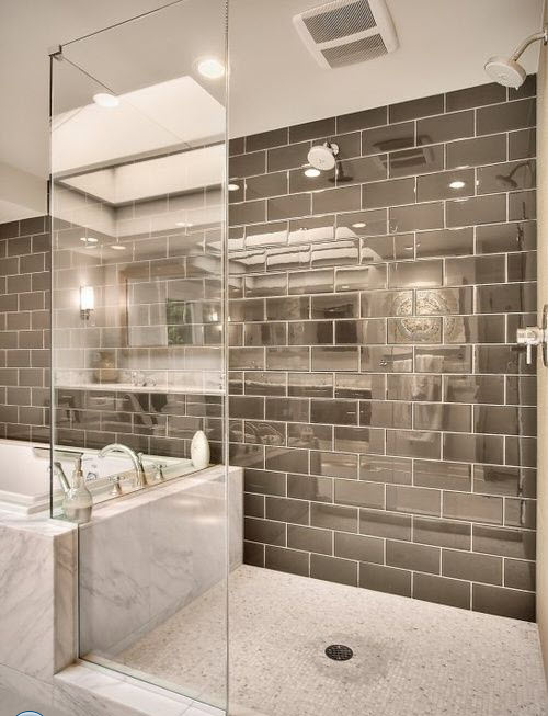 Gray Shower Tile 1