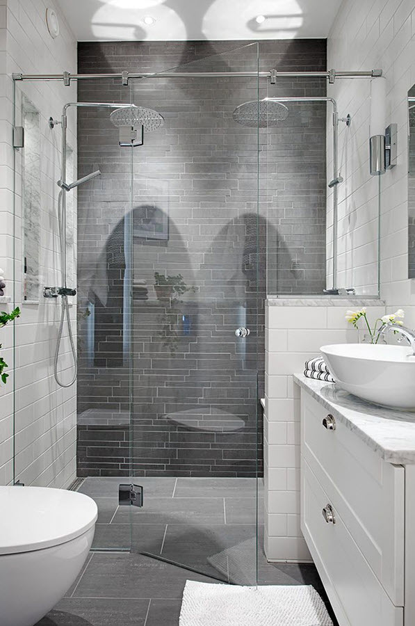 gray shower tile ideas and pictures, Home decor