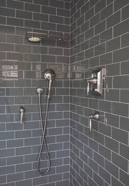 Gray Ceramic Subway Tile Designs