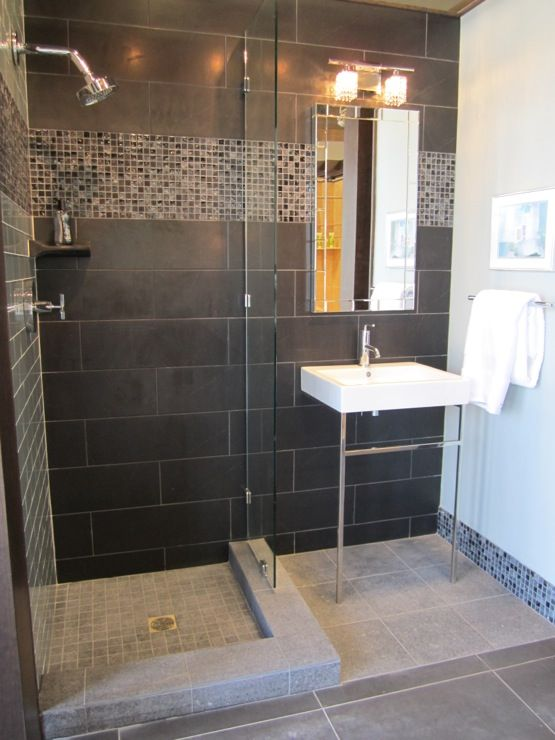 40 gray shower tile ideas and pictures for Shower room floor tiles