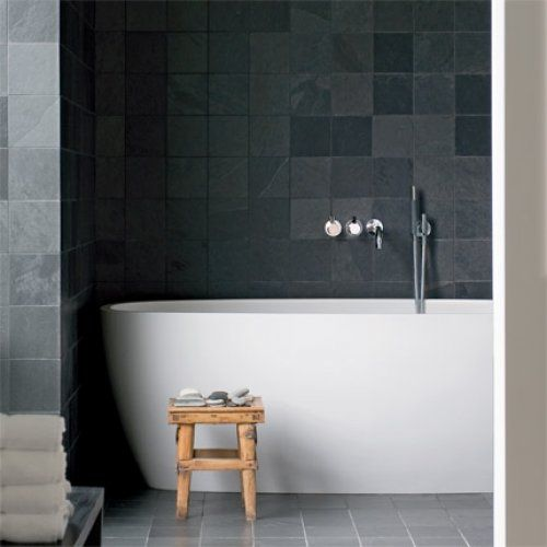 Light Grey Tiles For Bathroom: 40 Gray Slate Bathroom Tile Ideas And Pictures