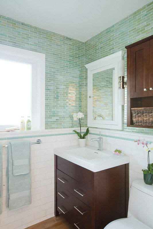 40 Green Bathroom Tile Ideas And Pictures 2019