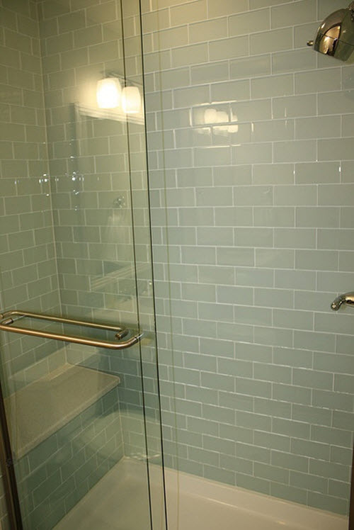 Sea Glass Subway Tile Bathroom The World S Catalog Of