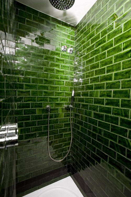 37 Green Glass Bathroom Tile Ideas And Pictures 2019