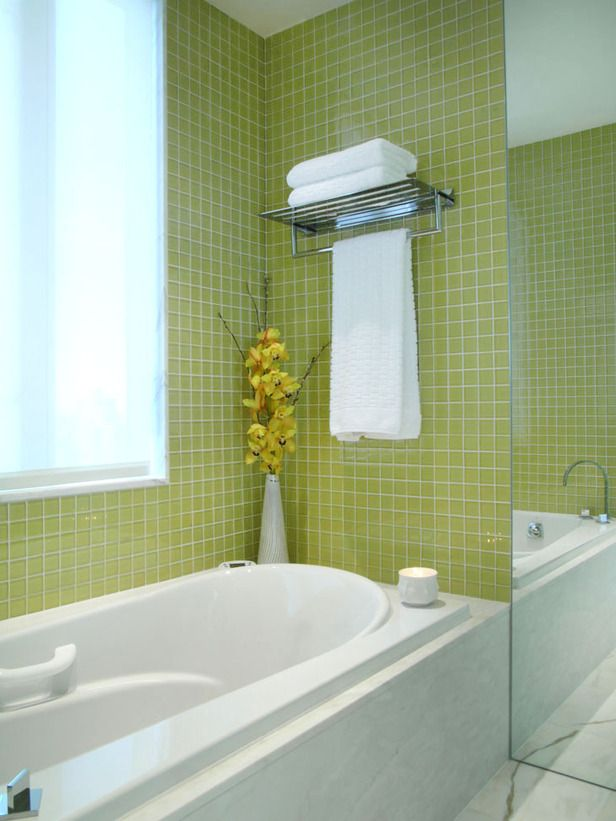 37 green glass bathroom tile ideas and pictures for Green color bathroom design