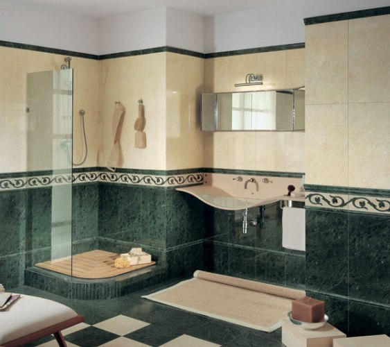 Green Marble Effect Bathroom Tiles Green Bathroom