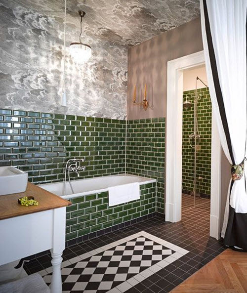 40 green wall tiles for bathroom ideas and pictures. Black Bedroom Furniture Sets. Home Design Ideas