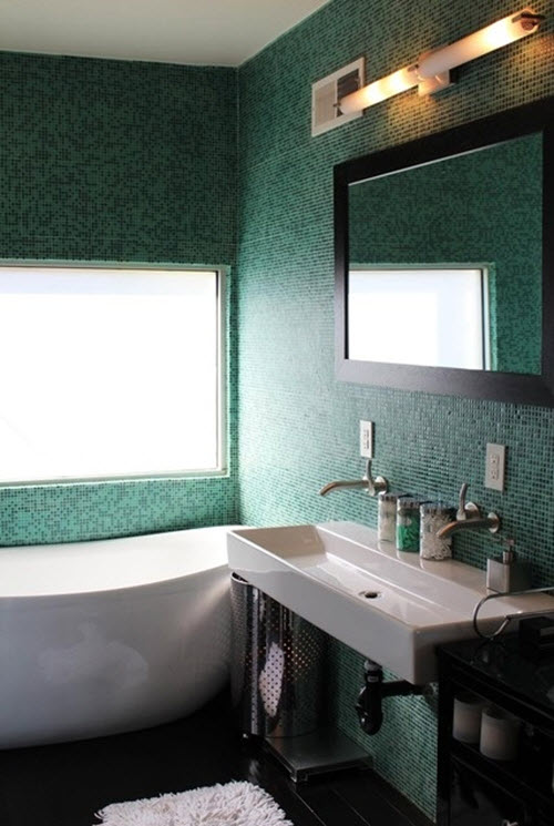 40 Green Wall Tiles For Bathroom Ideas And Pictures 2019