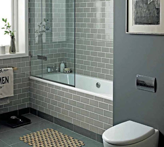 40 grey bathroom tile ideas and pictures for Bathroom ideas grey tiles