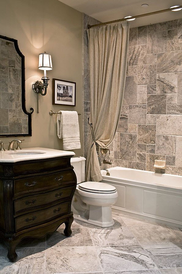 35 grey brown bathroom tiles ideas and pictures What color to paint bathroom with gray tile