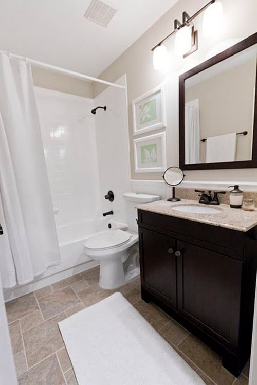 White and gray bathroom tile for Grey brown floor tiles