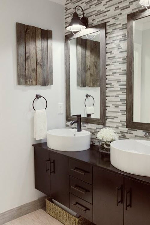 Grey Brown Bathroom Tiles 7
