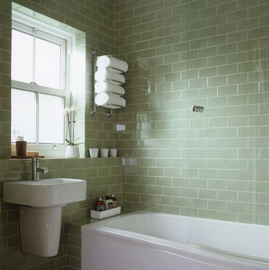 24 grey green bathroom tiles ideas and pictures - Faience verte salle de bain ...