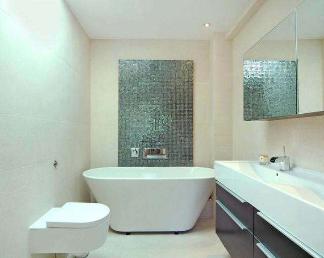 Perfect Choose A Gray Stone Or Tile Floor Treatment And Play Off The Tones To Build A Sophisticated Bathroom Around It  Ledge Along The Bottom Of The Mirror Frame Can Hold A Small Green Plant Or A Glass Cylinder With Cut Flowers More Polished