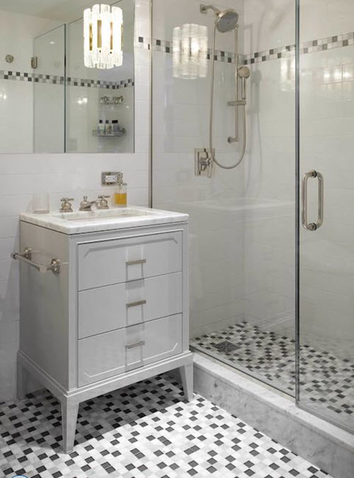 Grey Mosaic Bathroom Floor Tiles : Grey mosaic bathroom floor tiles ideas and pictures