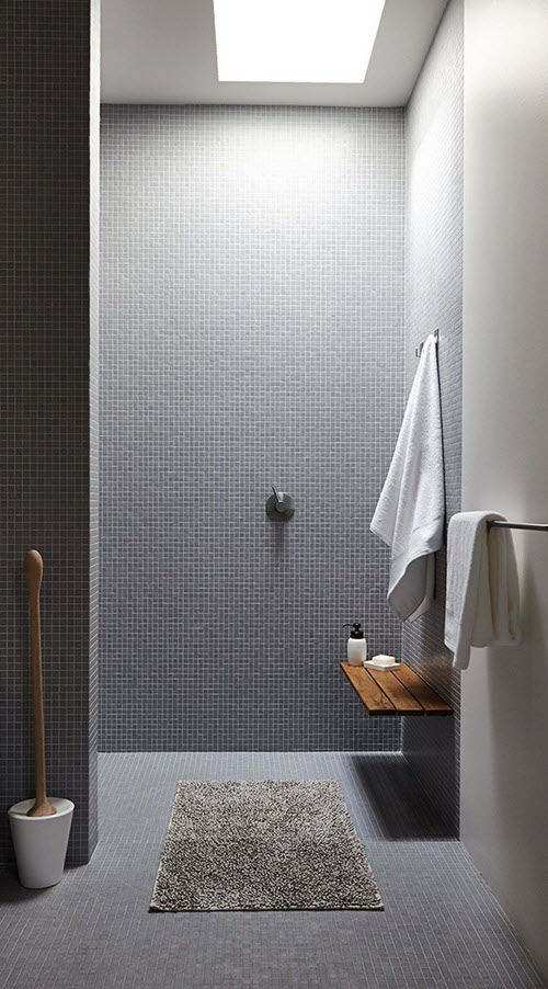 grey mosaic bathroom tiles 40 grey mosaic bathroom wall tiles ideas and pictures 18605