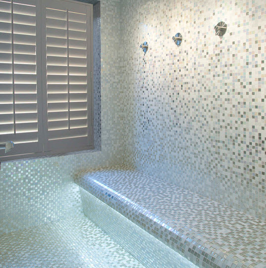 Grey glitter bathroom tiles with amazing image in ireland for Warm feel bathroom floor tiles