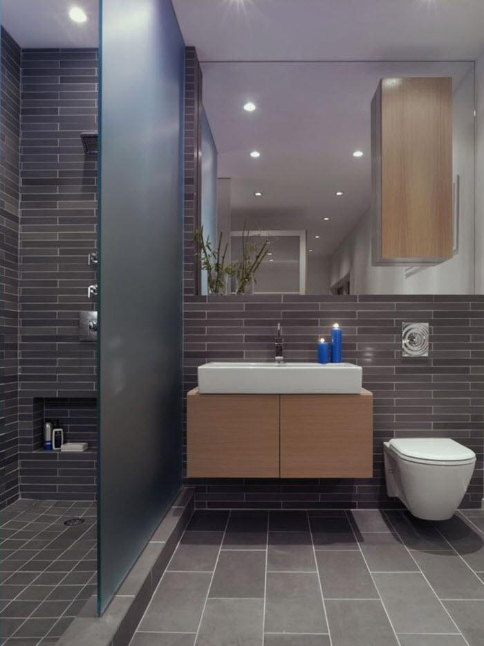 Slate Tile Bathroom Ideas.40 Grey Slate Bathroom Floor Tiles Ideas And Pictures 2019