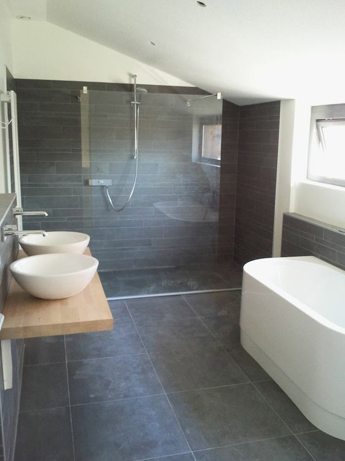 grey slate tile bathroom 40 grey slate bathroom floor tiles ideas and pictures 18610