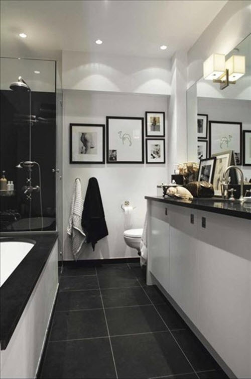 black white and gray bathrooms black and white gray bathroom www imgkid the image 22780
