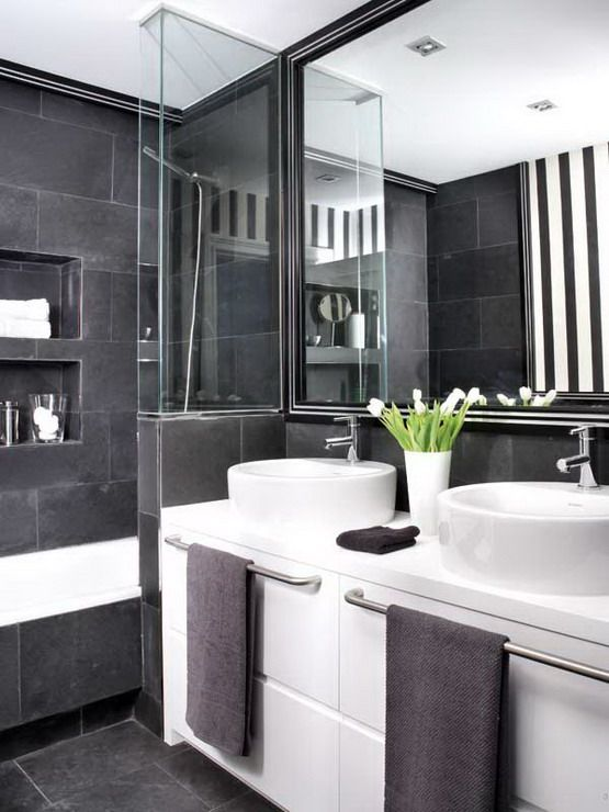 37 Grey Slate Bathroom Wall Tiles Ideas And Pictures 2019