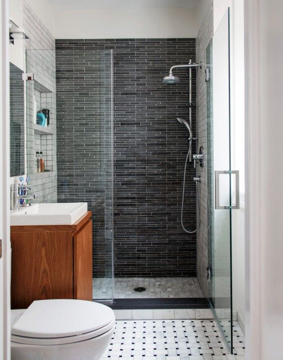 37 grey slate bathroom wall tiles ideas and pictures for Petite salle de bain moderne douche