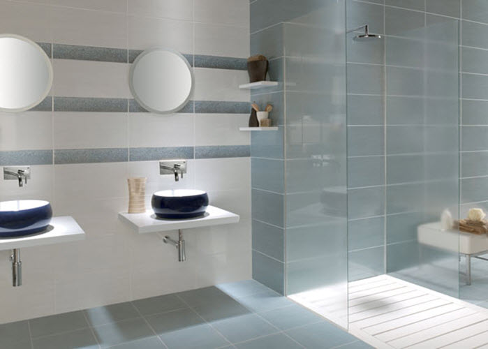 Large Blue Bathroom Tiles 35 Large Blue Bathroom Tiles Ideas And Pictures
